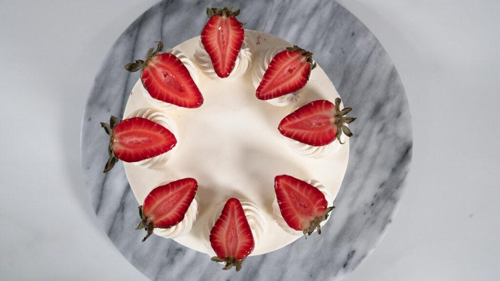 Torta Red Velvet - Vista Cenital