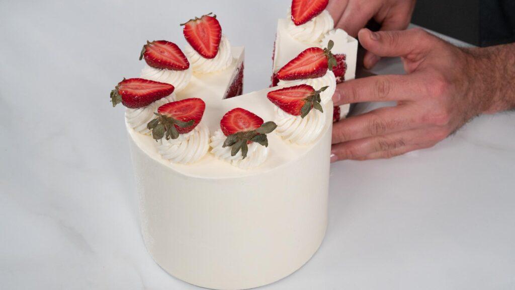 Torta Red Velvet - Corte