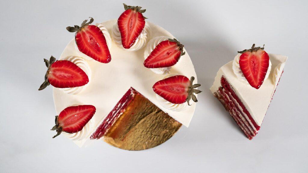 Torta Red Velvet - Corte Cenital