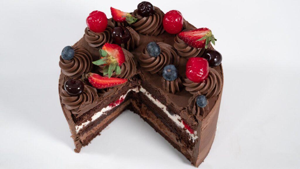 Torta Selva Negra - Vista Corte cenital